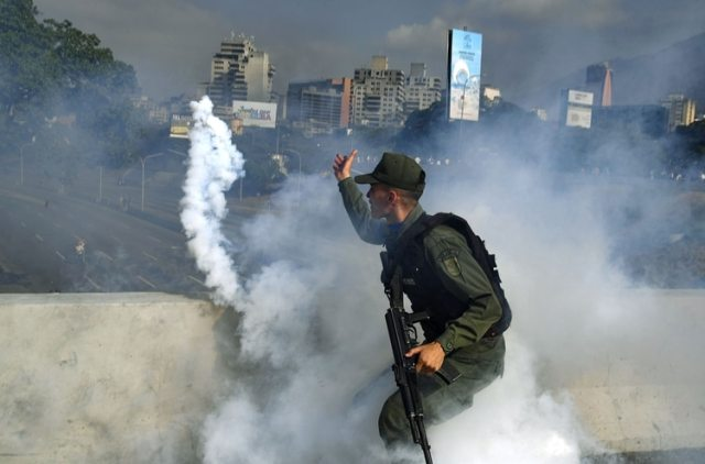 El régimen chavista volvió a reprimir las manifestaciones