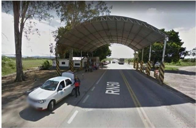 El puesto 28 de Julio sobre la Ruta 50 donde Vega Ibarra fue demorado.