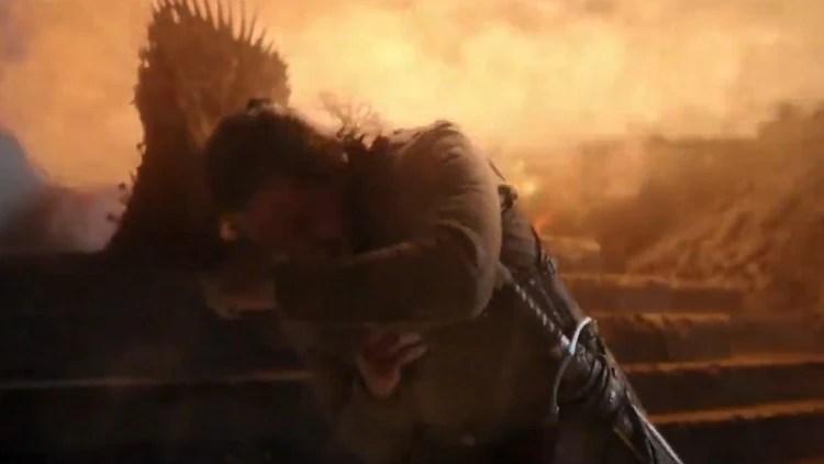 El último dragón vivo de Daenerys quemó el Trono de Hierro