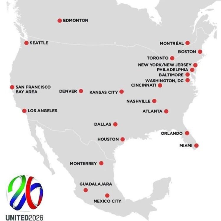 Las ciudades propuestas por la candidatura United 2026