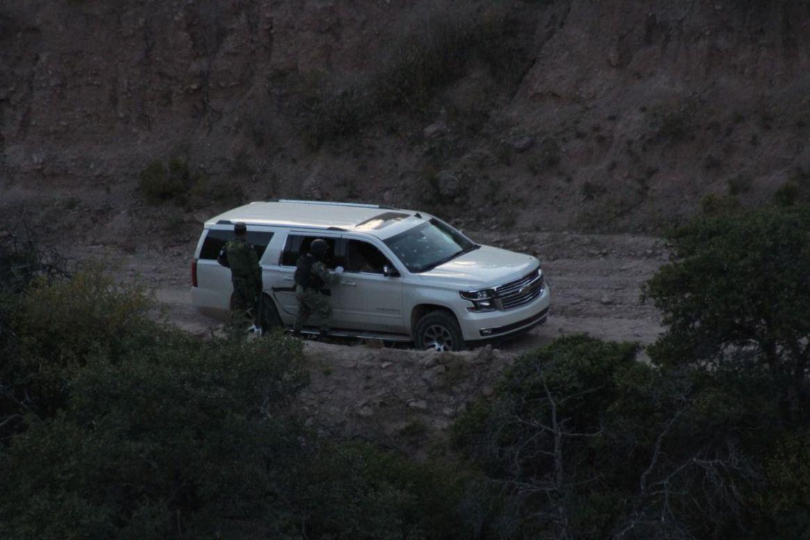 La escena del crimen donde murieron 9 integrantes de la familia LeBarón (Foto: Cuartoscuro)