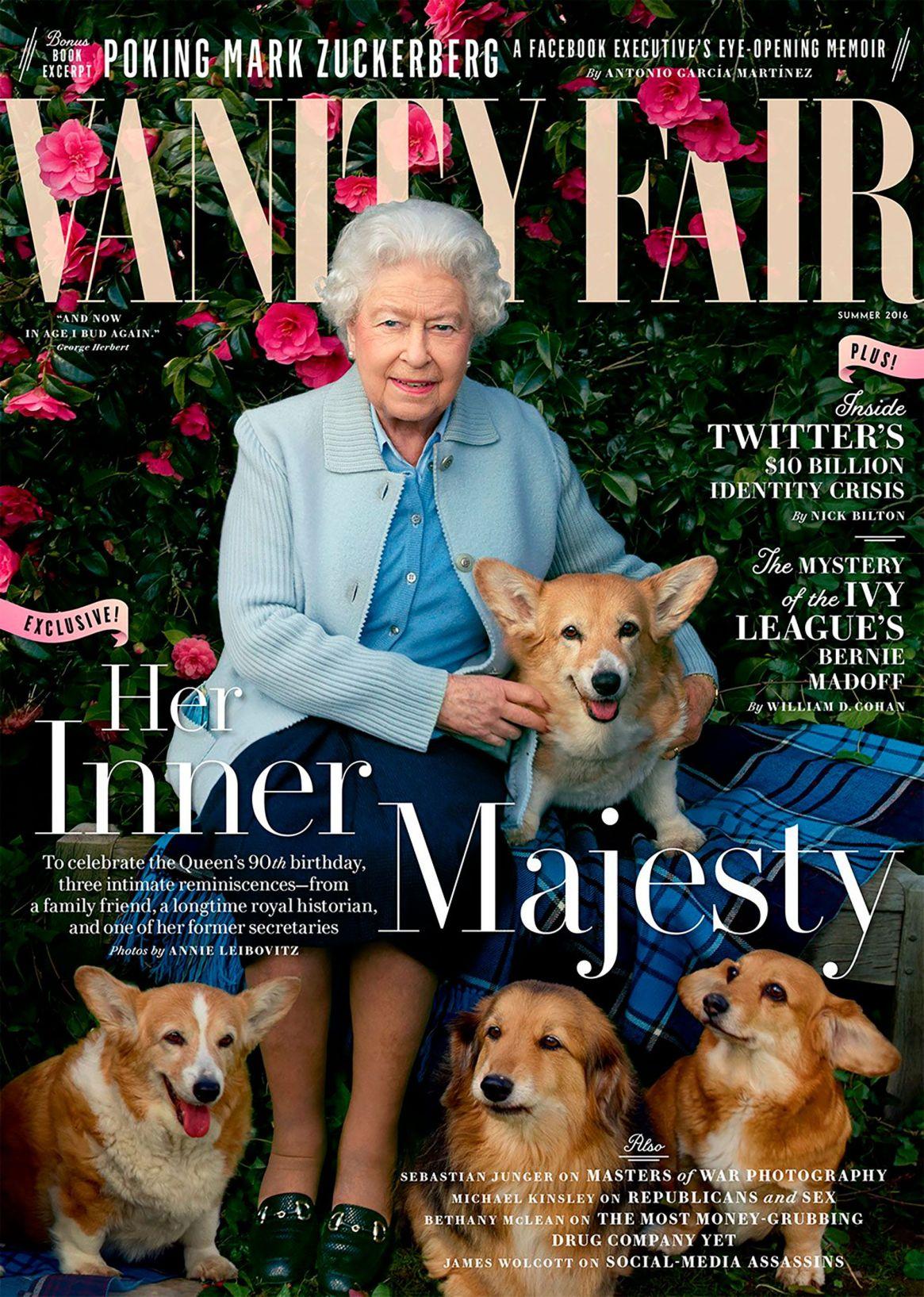 La portada de la reina Isabel II para Vanity Fair en mayo de 2016