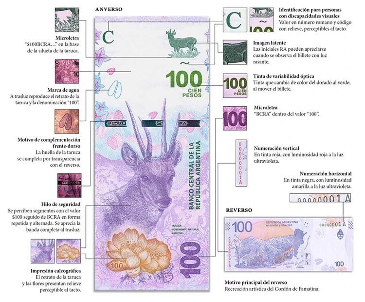 Los detalles de seguridad del nuevo billete