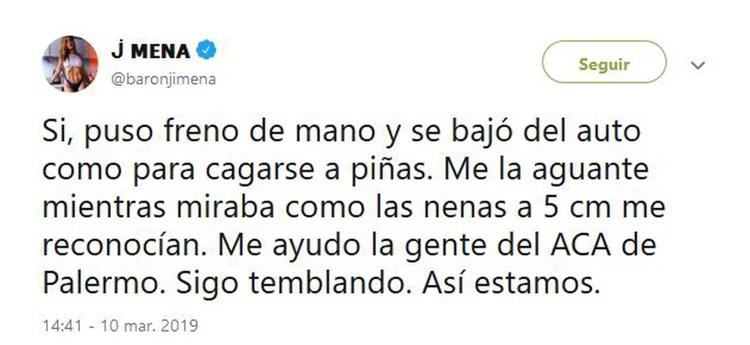 Los mensajes de Jimena Barón