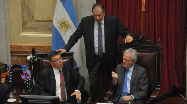 Humberto Schiavoni y Federico Pinedo, senadores de Cambiemos