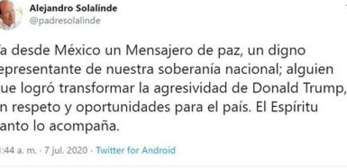 El padre Solalinde confía en la capacidad de AMLO para defender los derechos de los migrantes (Foto: Twitter / @padresolalinde)