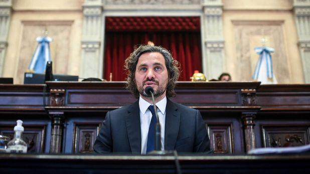 tiago Cafiero, brinda su segundo informe de gestión ante el Senado de la Nación