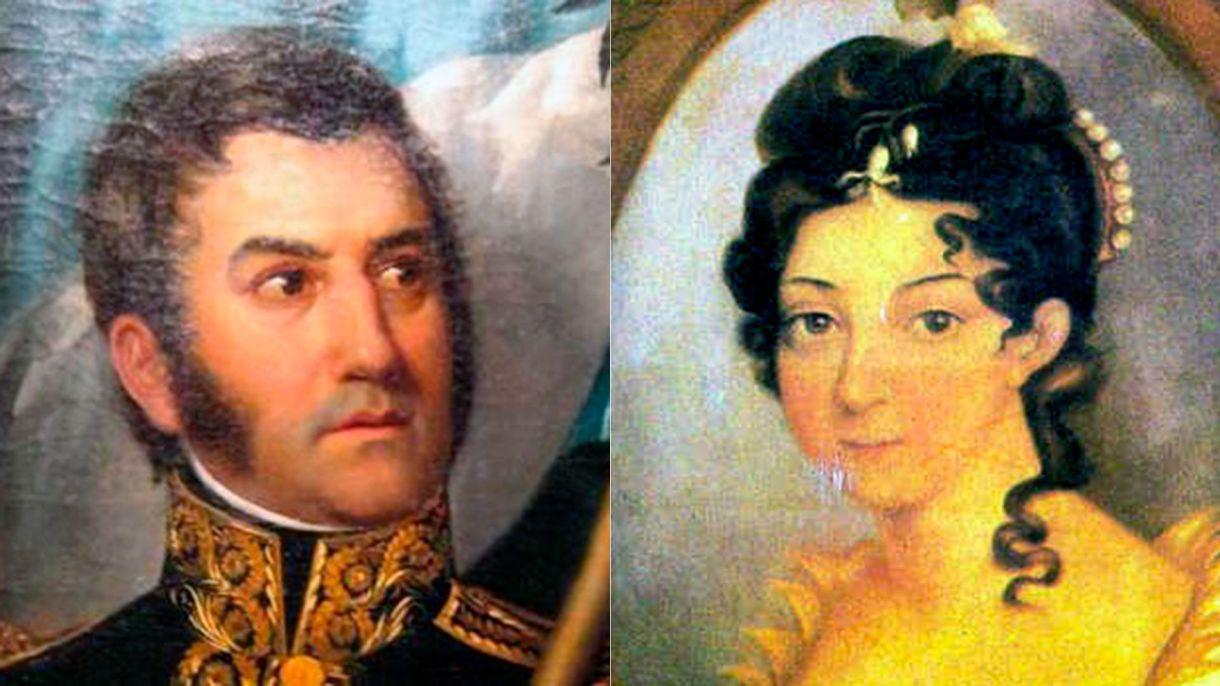 Remedios de Escalada y José de San Martín se casaron en noviembre de 1812