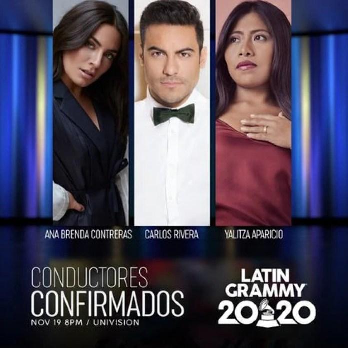 Carlos Rivera celebró que estará junto a Yalitza Aparicio en la ceremonia del Latin Grammy (Foto: Instagram@latingrammys)