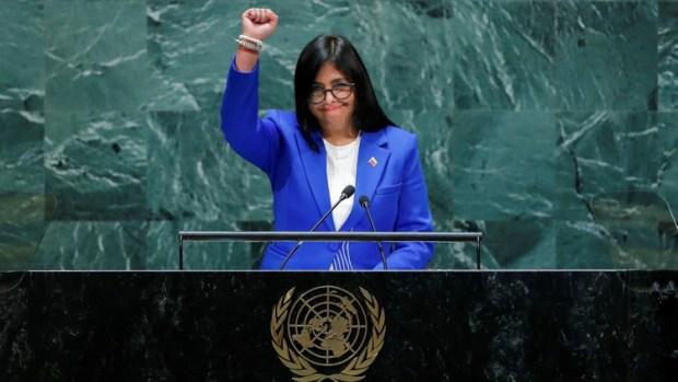 Resultado de imagen para fotos delcy rodriguez en la ONU