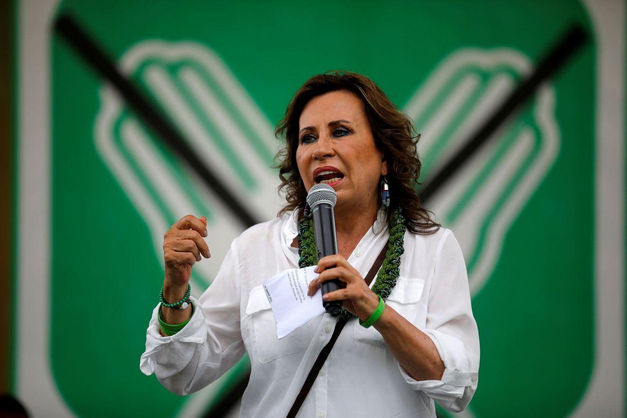 Sandra Torres, durante la última campaña(REUTERS/Luis Echeverria)
