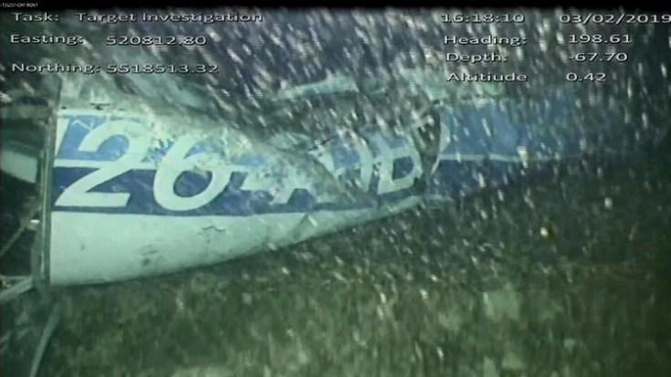 La imagen del avión hallado a 63 metros de profundidad en el Canal de la Mancha (Foto: AAIB)