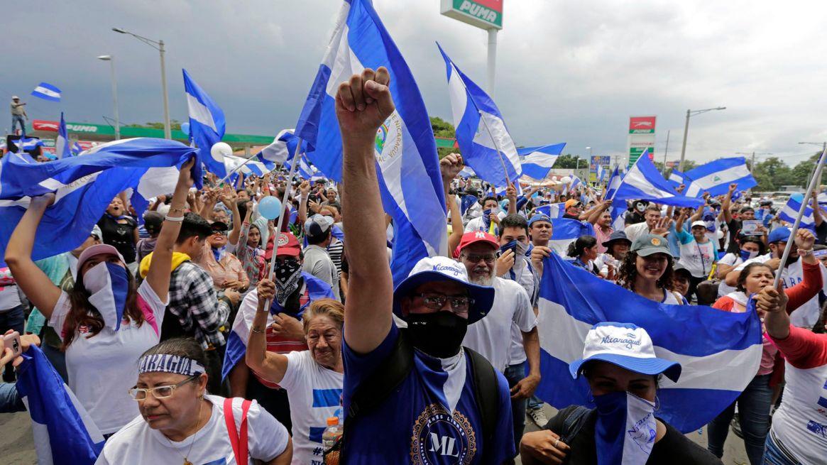 Manifestación contra Ortega en Managua el 9 de septiembre de 2018 (AFP)