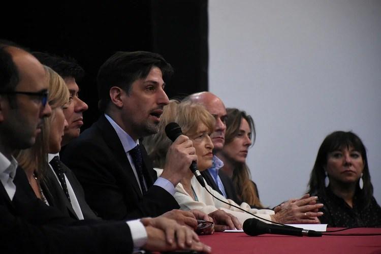 Nicolás Trotta dio una conferencia de prensa una vez terminada la reunión (Nicolás Stulberg)