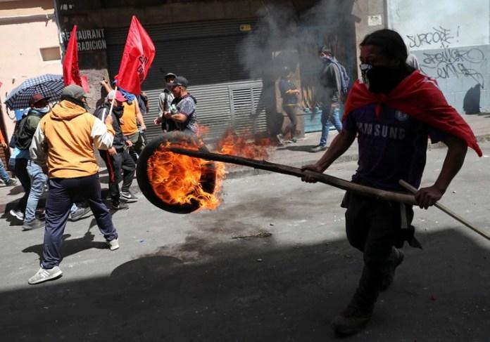 El clima es de tensión en las calles de Quito (Reuters)