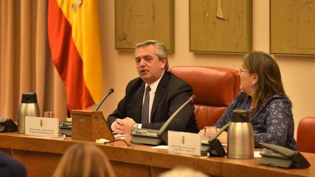 Ominami estuvo detrás del armado de la visita de Alberto Fernández a España