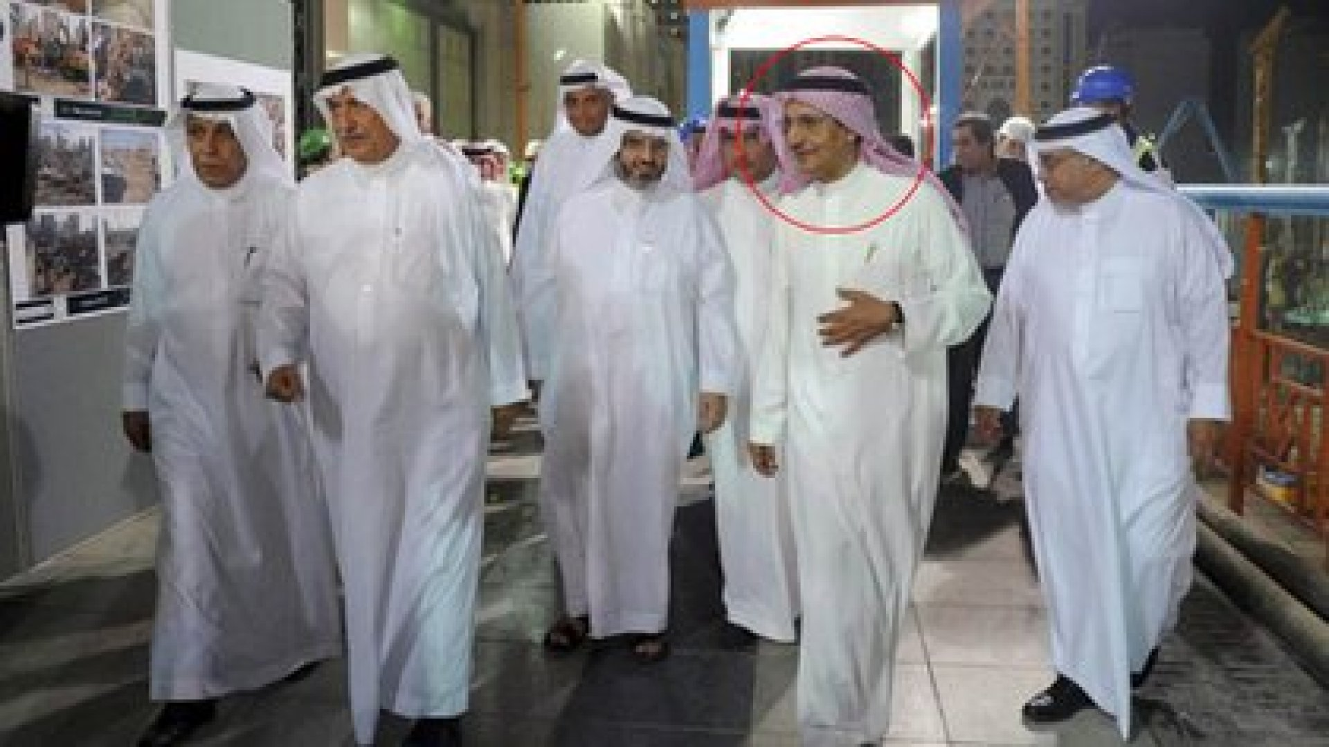 Bakr Bin Laden junto a otros empresarios sauditas (Reuters)