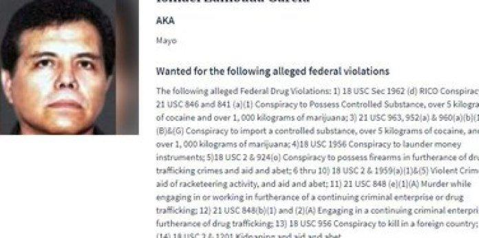 """A DEA search file on """"Mayo"""" Zambada, leader of the Sinaloa Cartel (Photo: DEA)"""