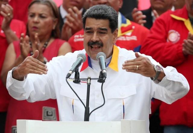 El dictador venezolano Nicolás Maduro durante un acto con militantes en Caracas (REUTERS/Ivan Alvarado/archivo)