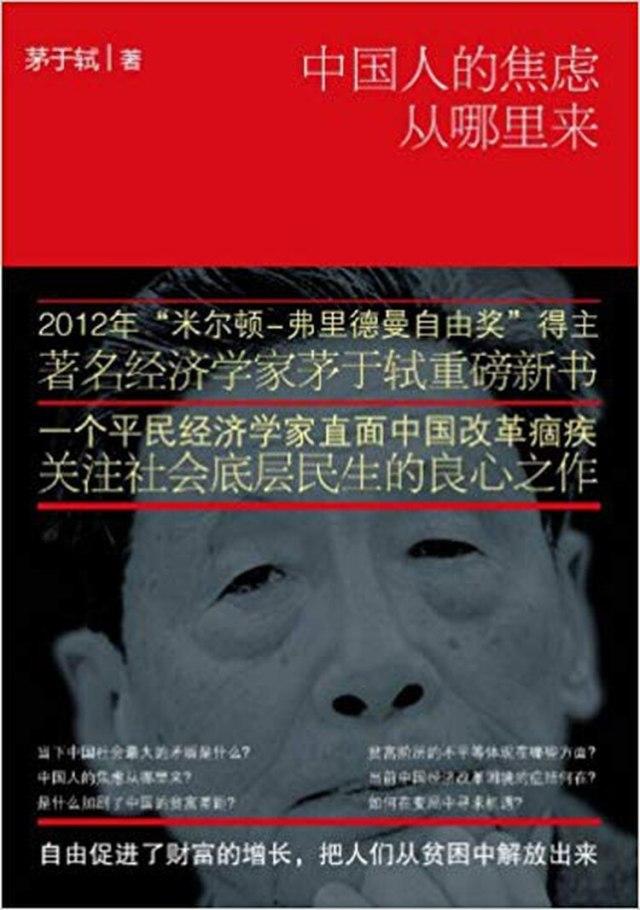 """""""De dónde viene la ansiedad de los chinos"""", libro de 2013."""