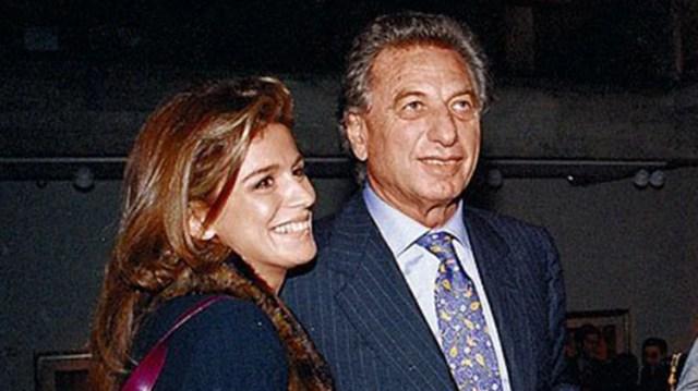Franco Macri junto a la animadora infantil Flavia Palmiero,una de sus parejas (foto CEDOC)