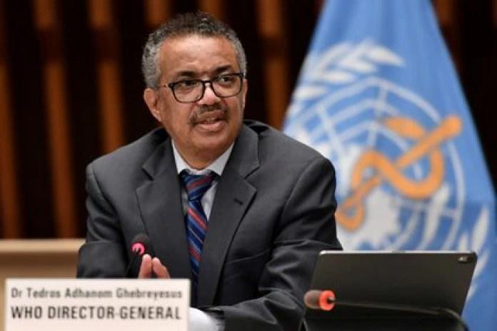 El director general de la OMS, Tedros Adhanom Ghebreyesus. Foto: Fabrice Coffrini/via REUTERS