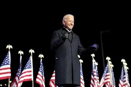 Joe Biden durante el acto en Pittsburgh (REUTERS/Kevin Lamarque)