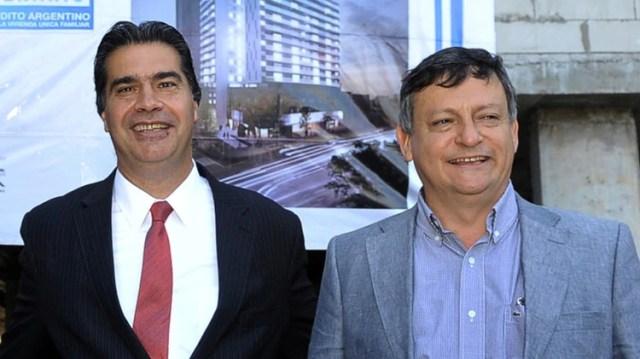 Jorge Capitanich y Domingo Peppo