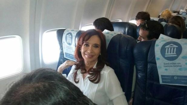 Cristina Kirchner viajó al sur para ver a su nieta