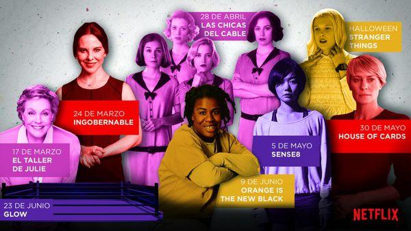 Las mujeres de Netflix 2017