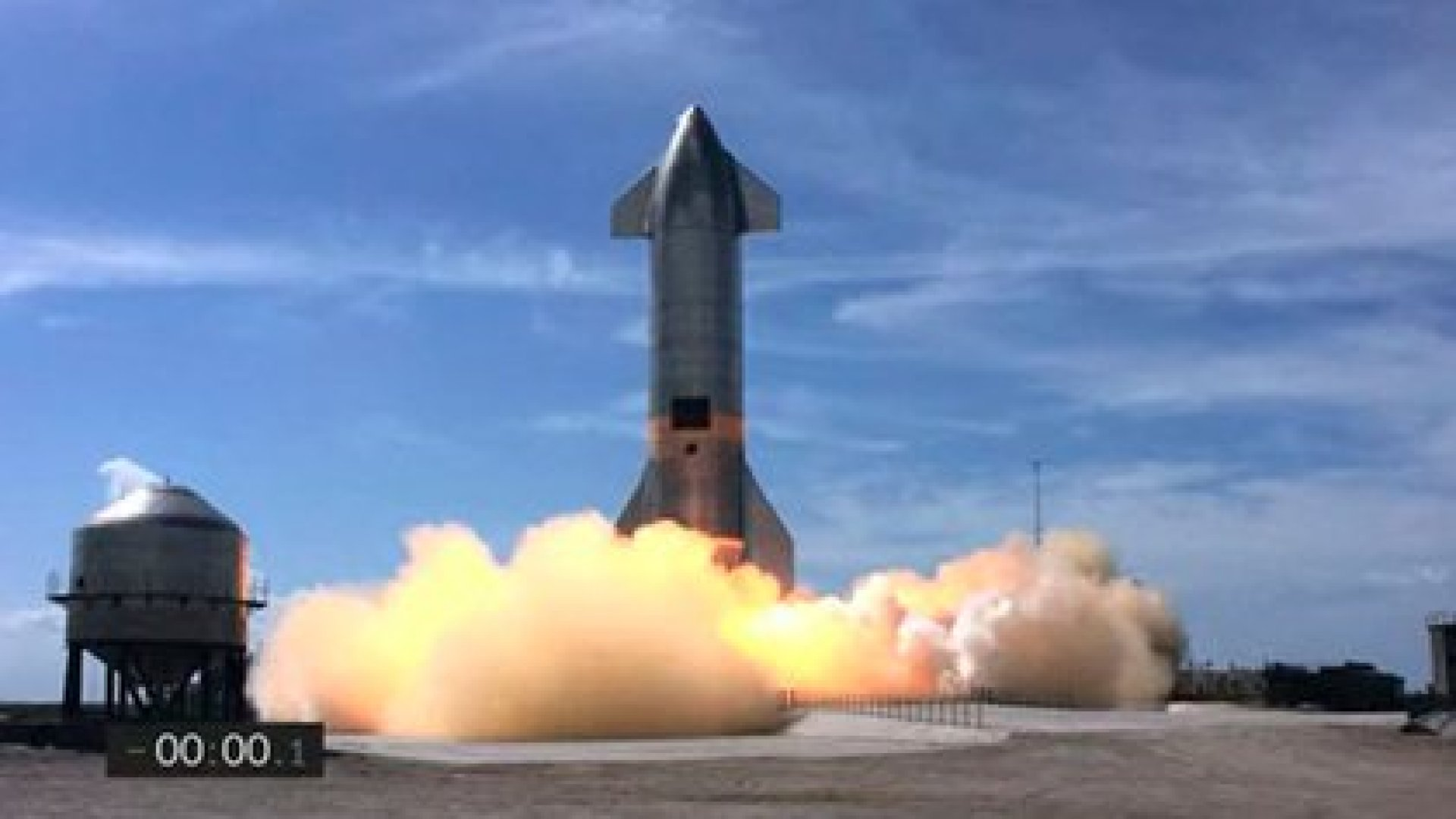 Captura del momento del aterrizaje del SpaceX (Photo by - / SPACEX / AFP)