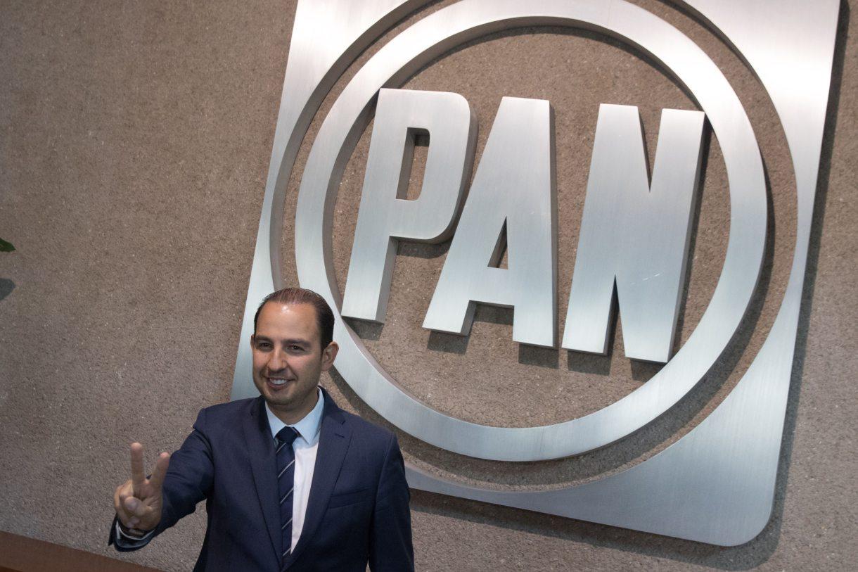 """Marko Cortés, presidente del PAN, señaló que habían """"asesinado"""" a la gobernadora de Puebla (Foto: Cuartoscuro)"""