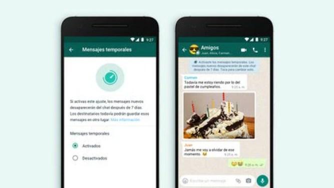 WhatsApp ampliará las funciones de los mensajes temporales en los chats grupales