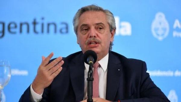 El presidente de Argentina, Alberto Fernández (NA)