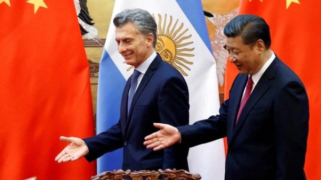 El presidente Macri, junto a su par chino, Xi Jinping, en Beijing