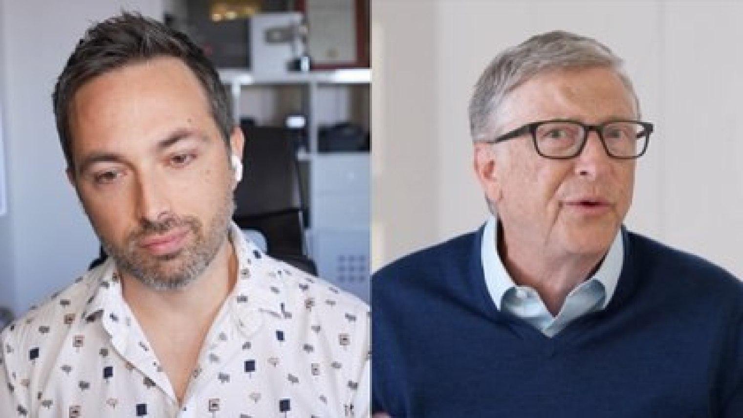 Derek Muller entrevistó a Gates en su canal de YouTube Veritasium