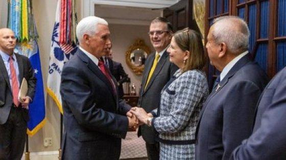 Martha Bárcena has played a lead role in Donald Trump's president and López Obrador has a visit to Washington, EE.UU.  (Photo: SRE)
