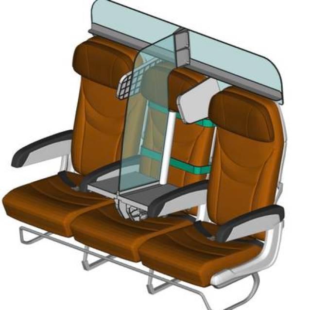 El ingeniero aeronáutico francés Florian Barjot diseñó un panel de acrílico desmontable que separe a los pasajeros. (PlanBay)