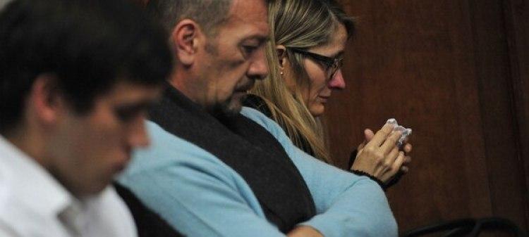 Marcelo Galarza y Yamina Kroh, padres de Nahir, en el juicio la semana pasada (Ricardo Santellán)