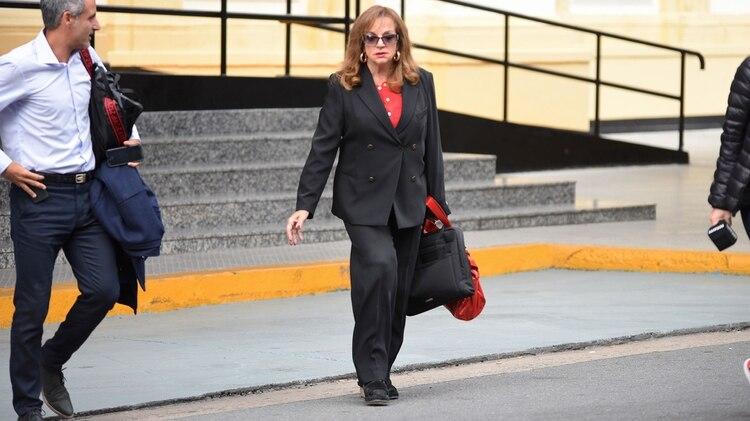 La diputada Nilda Garré, miembro de la Comisión Bicameral que investiga el hundimiento