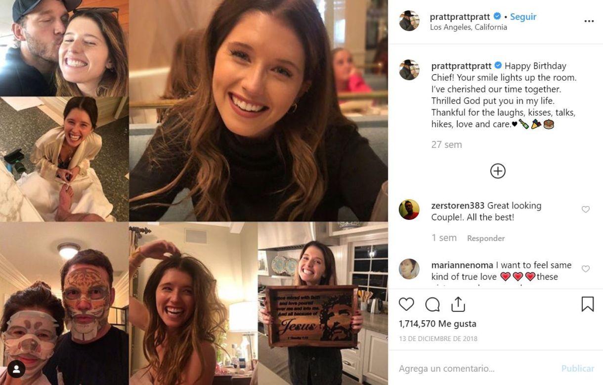 """Con este collage, Chris Pratt felicitó el pasado diciembre a Katherine por su cumpleaños. La publicación logró 1.714.570 """"me gusta"""" (Foto: Instagram @prattprattpratt)"""