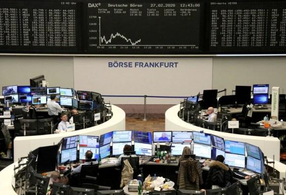 La bolsa de Frankfurt, una de las más dañadas esta semana (REUTERS/Staff)
