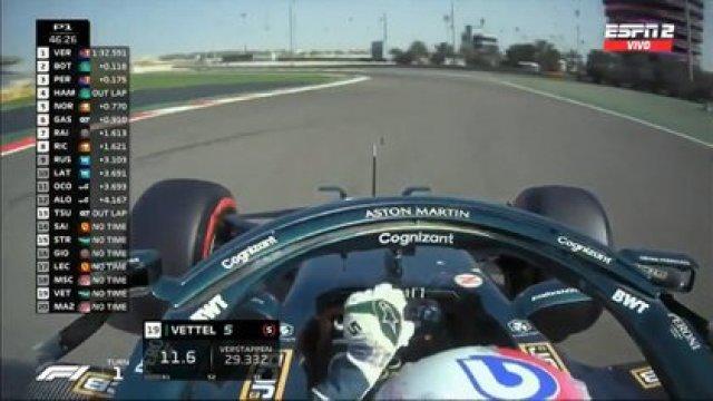 En las pantallas volvió a figura el mítico MSC que identificó durante tanto tiempo a Michael Schumacher (Foto: Captura TV)