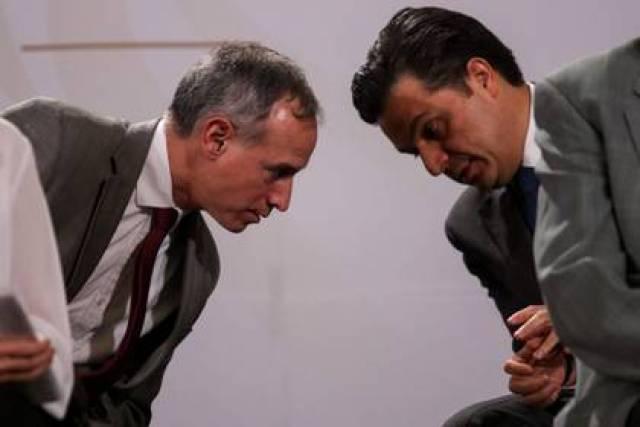 CIUDAD DE MÉXICO, 01MAYO2020.- Andrés Manuel López Obrador, presidente de México, encabezó la conferencia con motivo del Día del Trabajo en compañía de la secretaria del Trabajo, Luis María alcalde. Donde se destacó los avances en relación a la Reforma Laboral de la actual administración la cual incluyo el aumento a 123 pesos del salario mínimo. Asimismo, autoridades del sector salud: Zoe Robledo, titular del Instituto Mexicano del Seguro Social (IMSS); Hugo López-Gatell, subsecretario de Prevención y Promoción de la Salud, y Jorge Alcocer, secretario de Salud, quienes explicaron la variación que ha tenido la pandemia de Covid-19 en el territorio y cual es el panorama para los próximos días. FOTO: GALO CAÑAS /CUARTOSCURO.COM