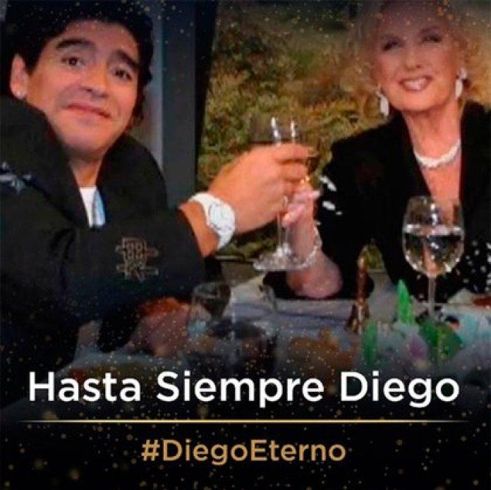 Mirtha Legrand and Maradona