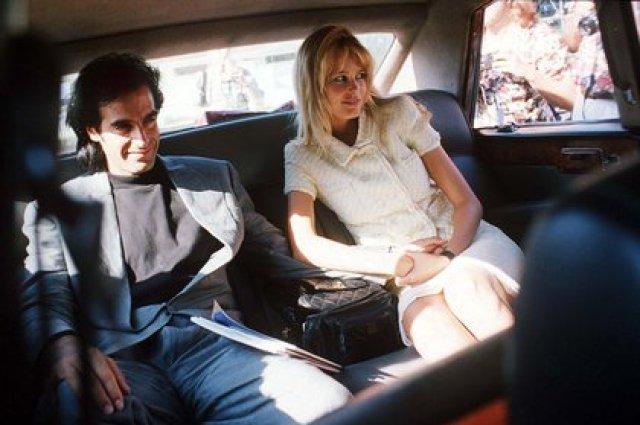 Claudia Schiffer y David Copperfield (Shutterstock)