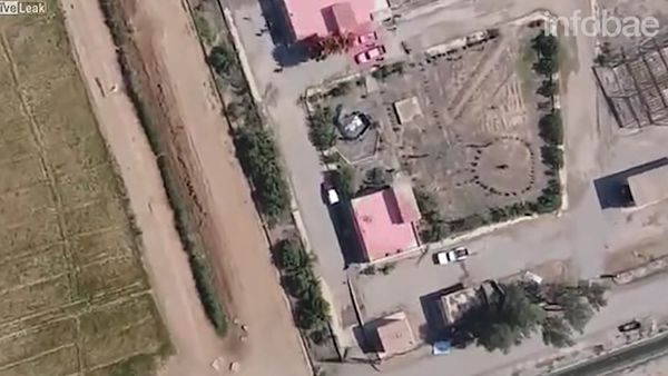 El momento en que los soldados kurdos huyen del atentado suicida