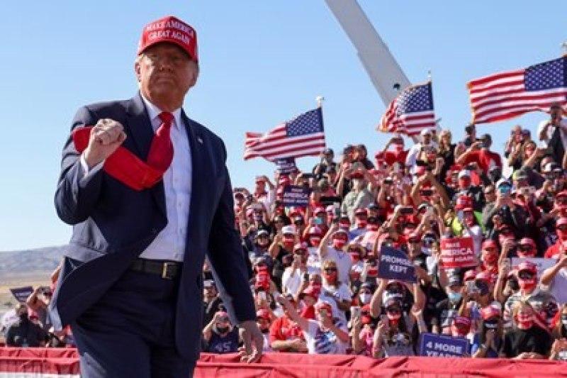 Donald Trump durante un evento de campaña. Foto: REUTERS/Jonathan Ernst