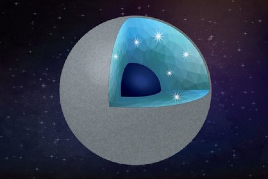 Illustration of a carbon-rich planet with diamonds and silica as the main minerals.  SHIM / ASU / VECTEEZ