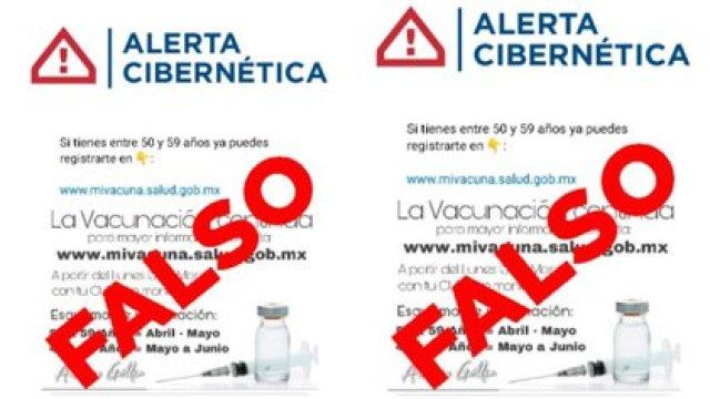 La Secretaría de Seguridad Ciudadana alertó sobre una página apócrifa para registrar a personas de entre 50 y 59 años a la vacunación contra COVID-19 (Foto: Twitter@SSC_CDMX)